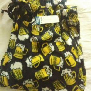 Xlarge Mens beer  pattern fluffy pajamas